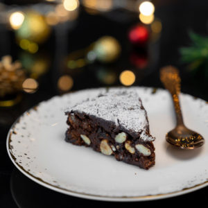 Orzechowe ciasto panforte bez glutenu