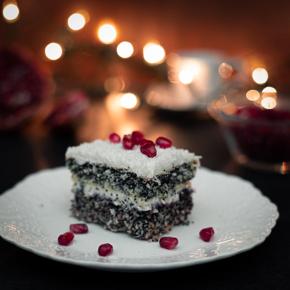 Makowa panienka – ciasto makowo-kokosowe