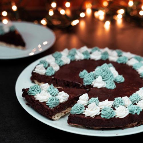 Bezglutenowa Tarta czekoladowa z kremem